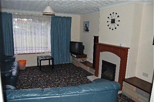 Modern spacious lounge.