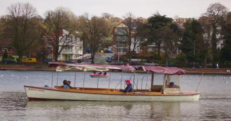 Roath Lake Cruising on Boat